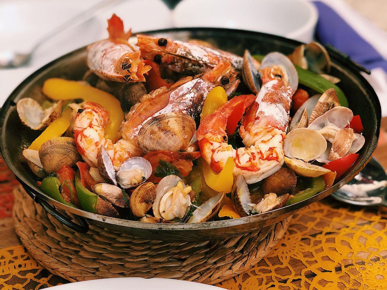 Cataplana Portugese Seafood Dish
