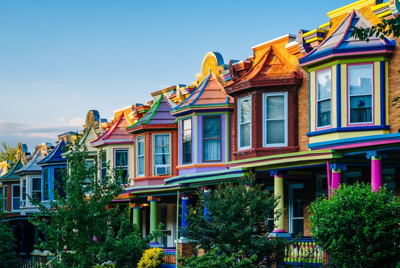 Colorful house in Baltimore
