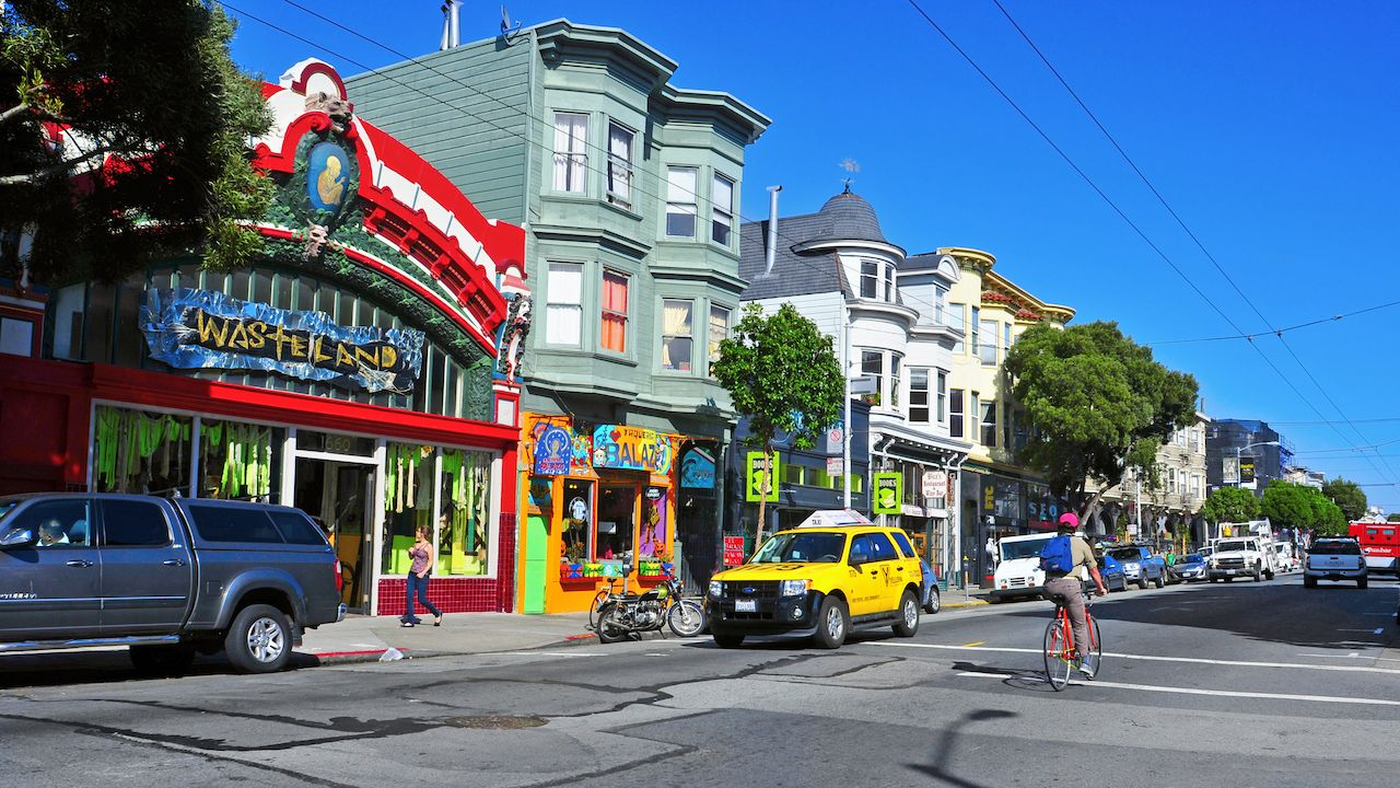 Colorful stores in Haight Street