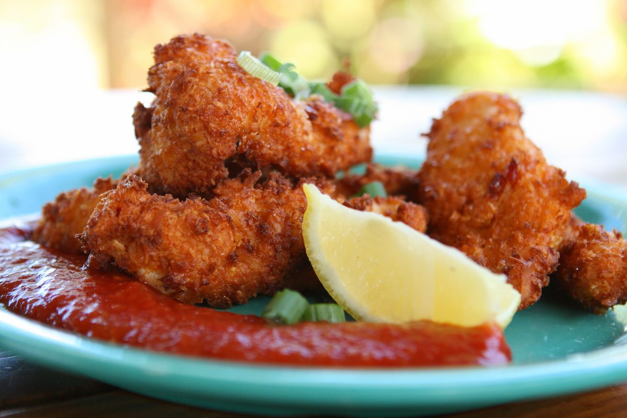 Conch Fritters with Cocktail Sauce