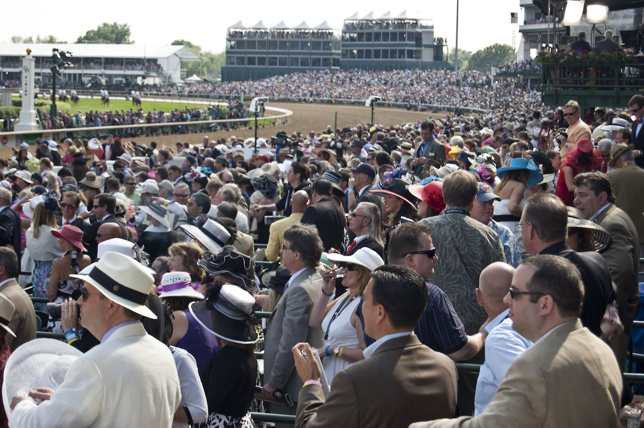 Crowd of spectators at the Kentucky Derby