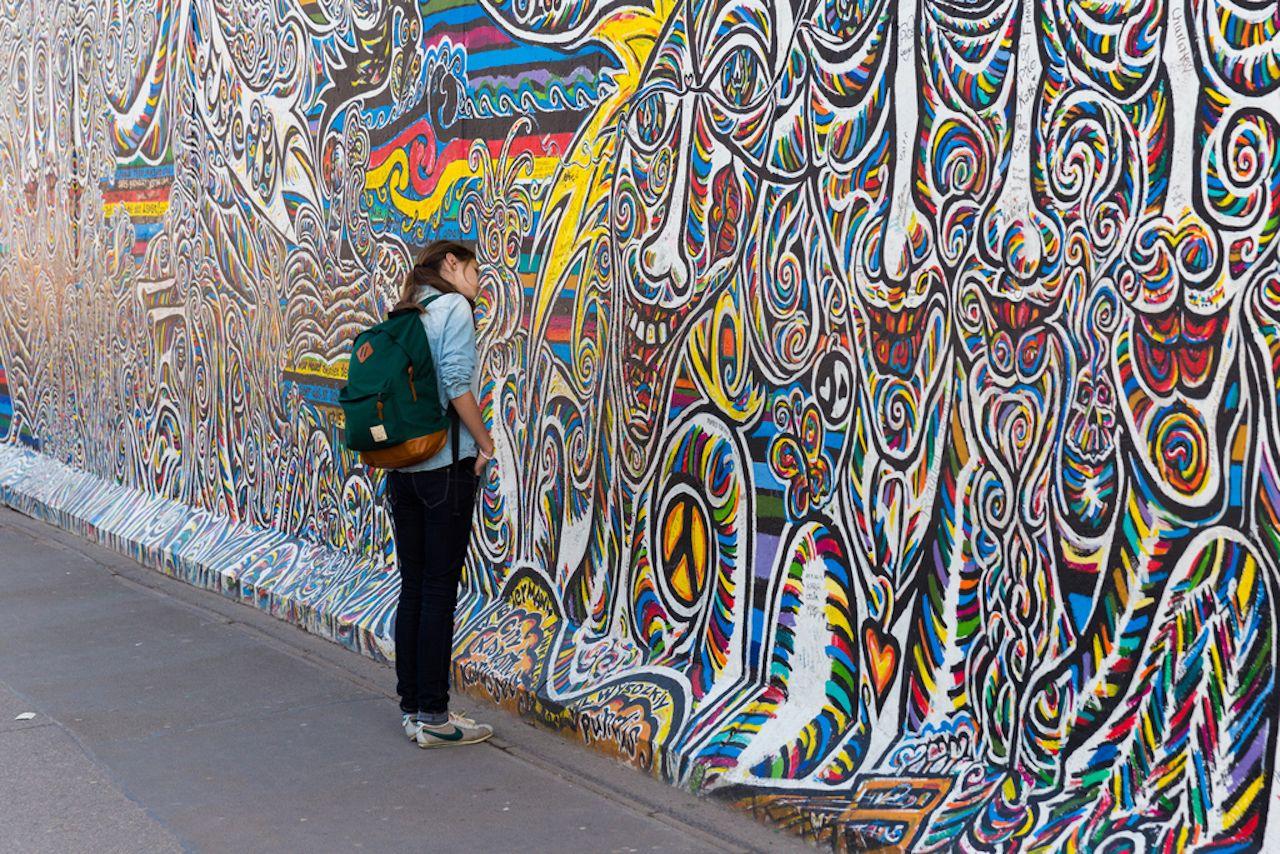 East Side Gallery in Berlin artwork and graffiti