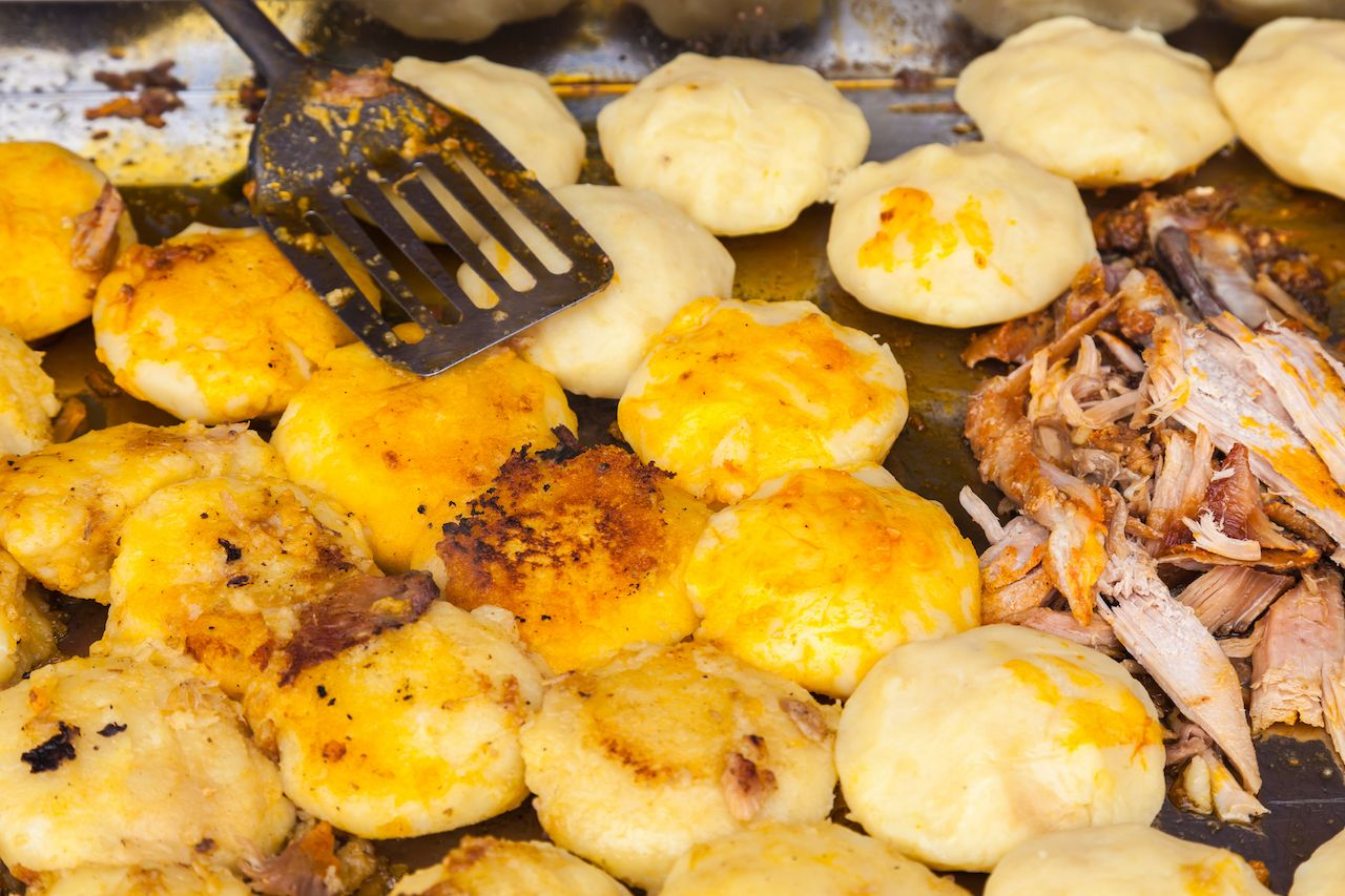 Ecuadorian cakes of cooked potato dough and then fried on the grill