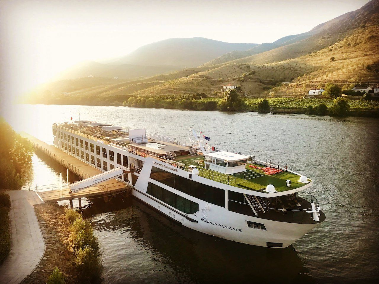 Emerald Waterways ship in Portugal