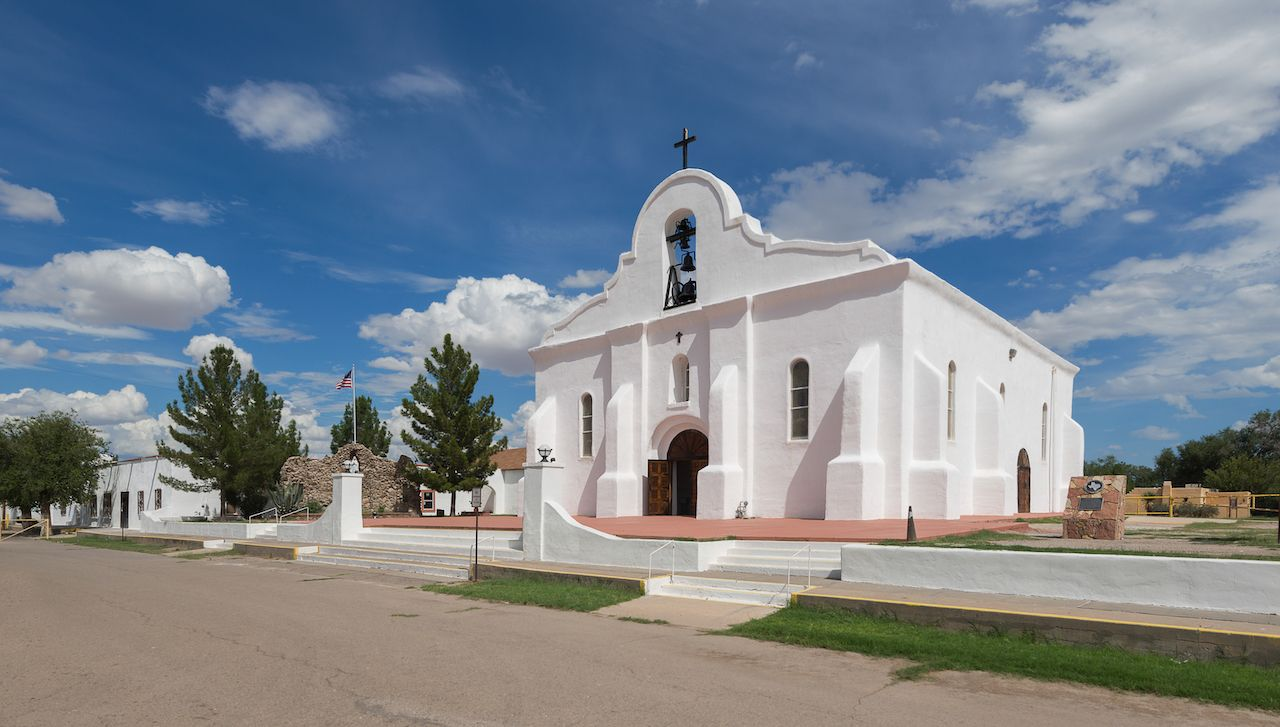 Exterior of the San Elizario Presidio Chapel
