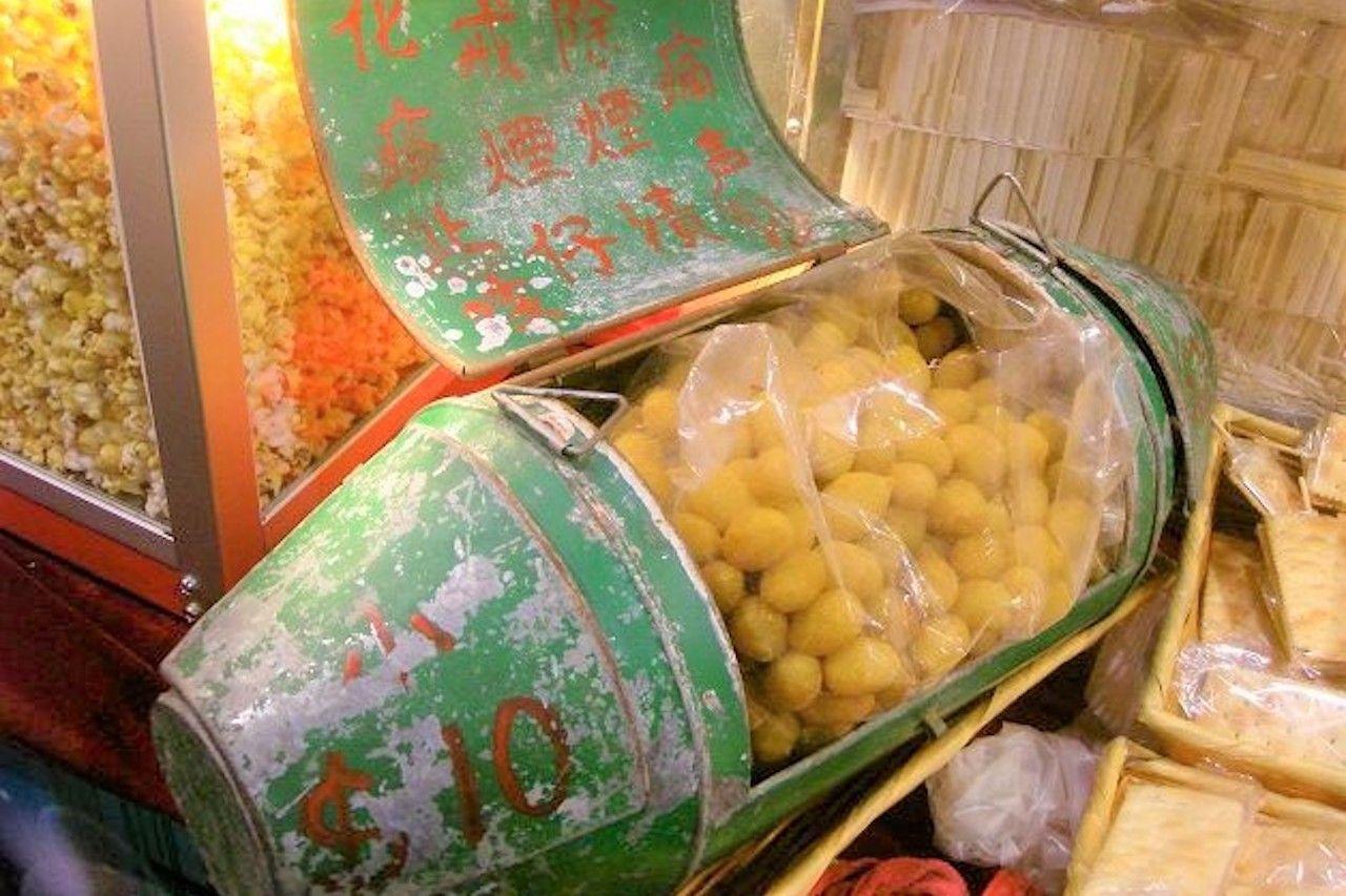 Hong Kong street food called airplane olives