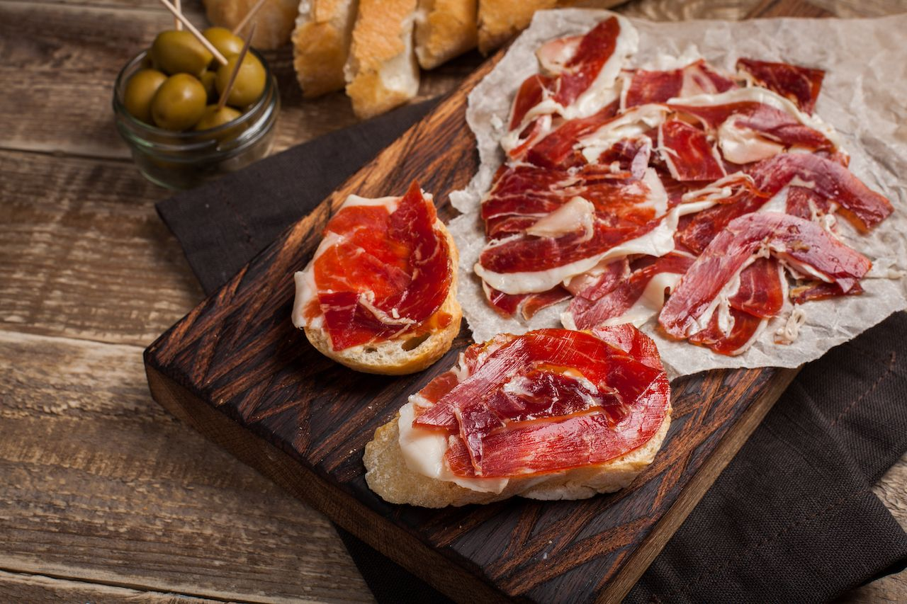 Jamon Iberico with white bread