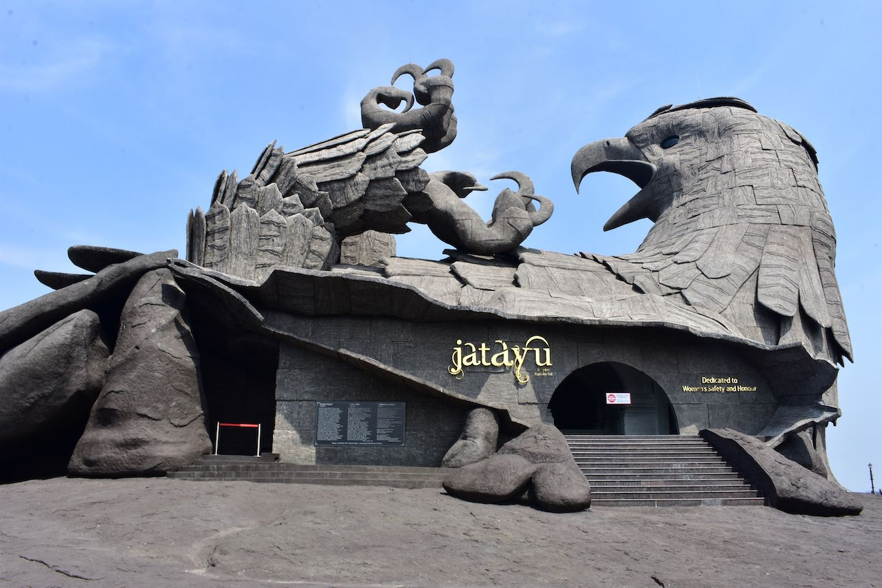 Jatayu bird sculpture in India