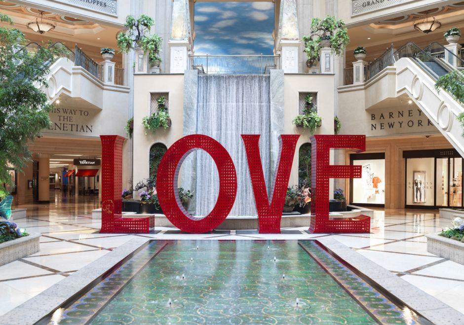 LOVE Installation at The Venetian Resort Las Vegas