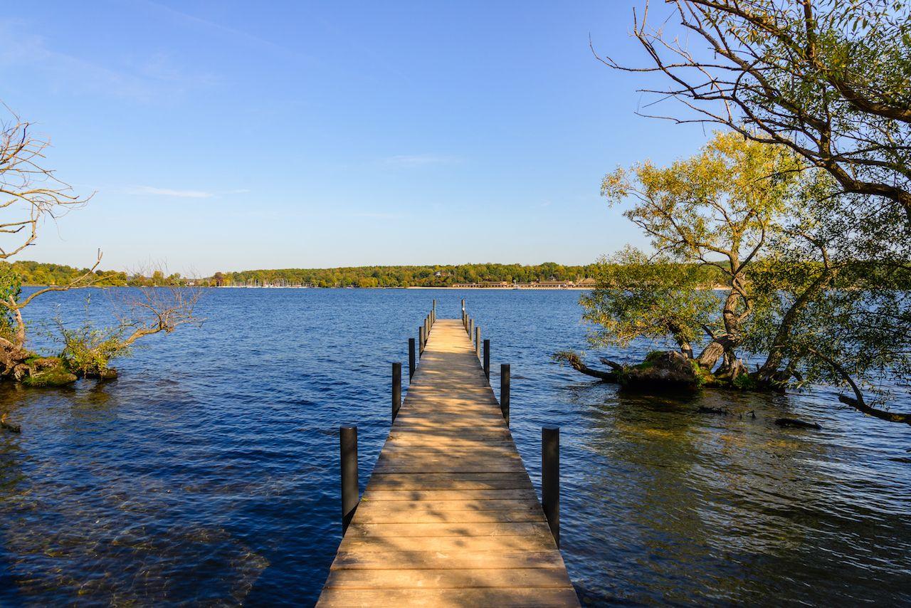 Lake and boardwalk in Berlin