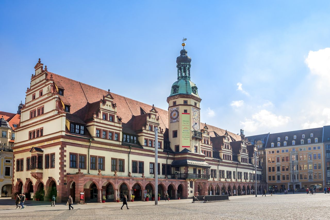 Leipzig, Old, Townhall, Market