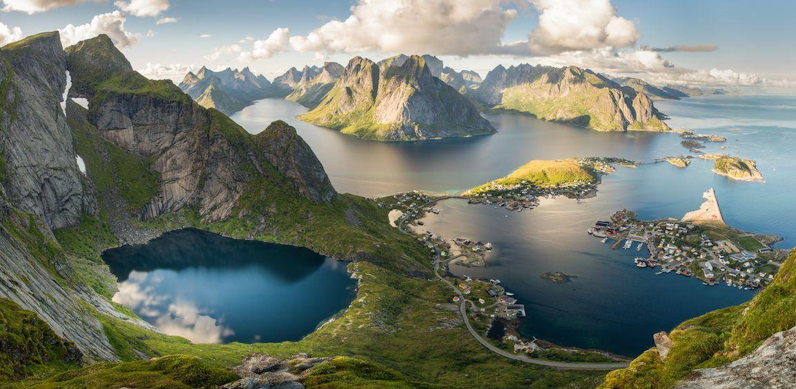 Lofoten Islands landscape, Norway