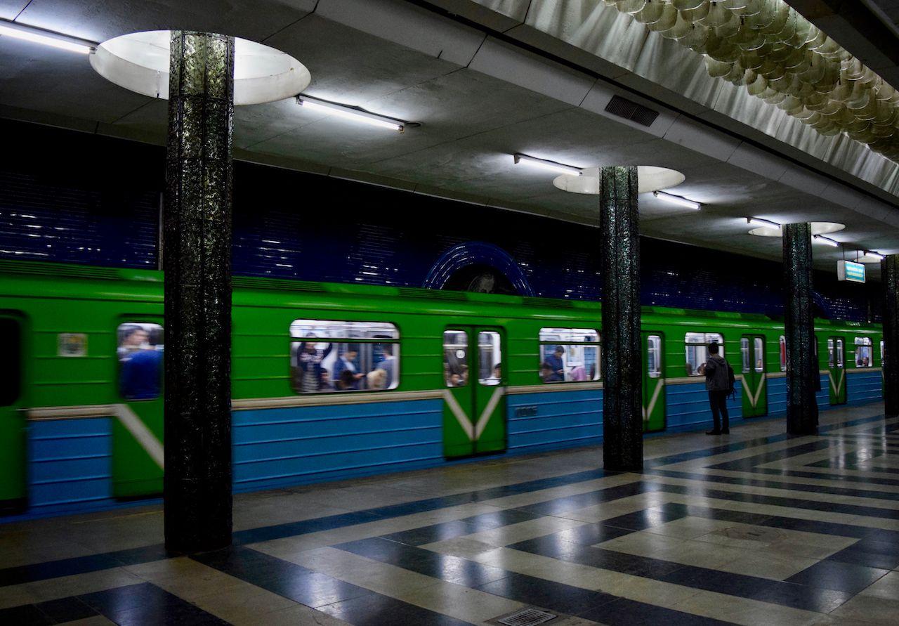 Metro at Tashkent station