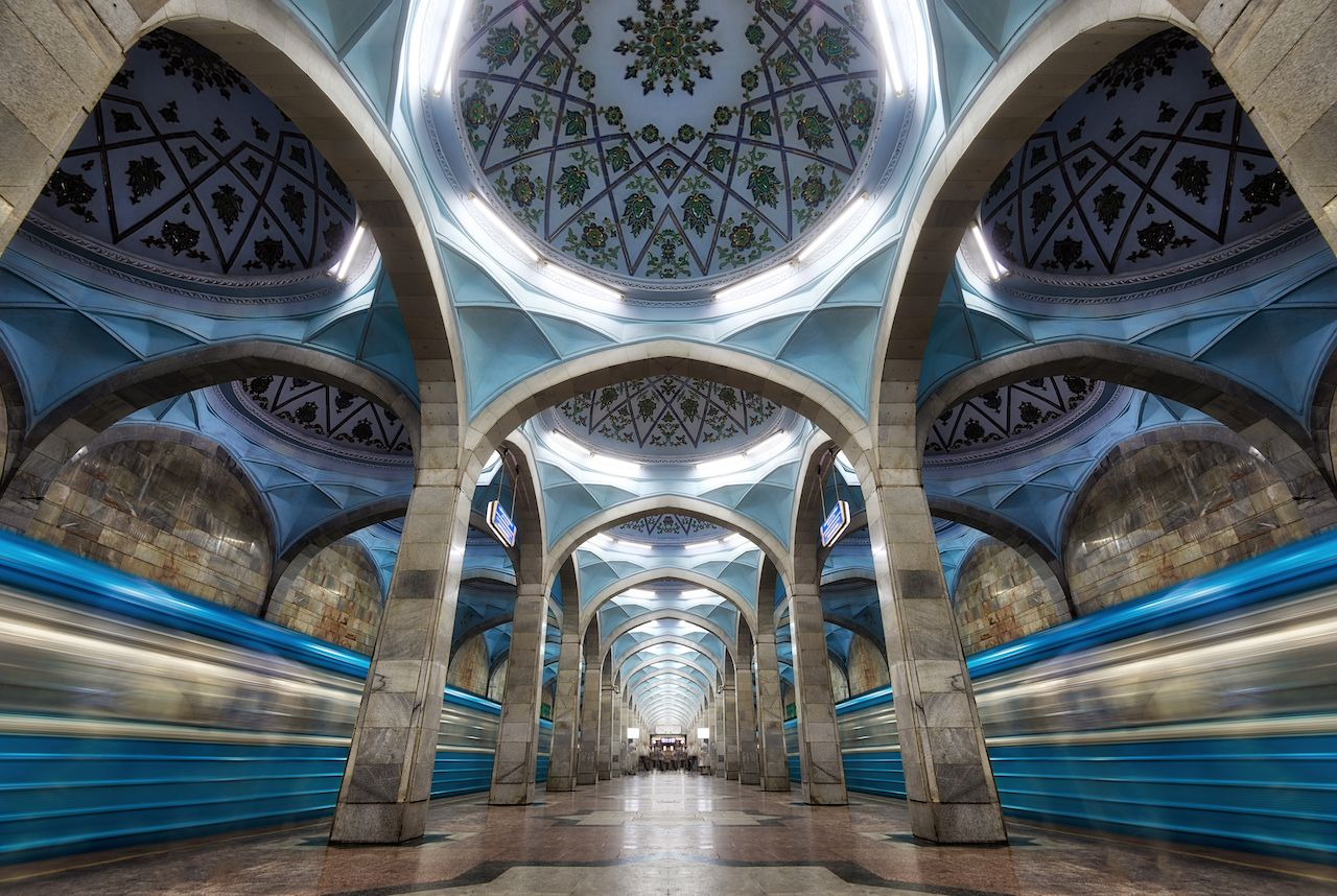Metro station in Tashkent, Uzbekistan