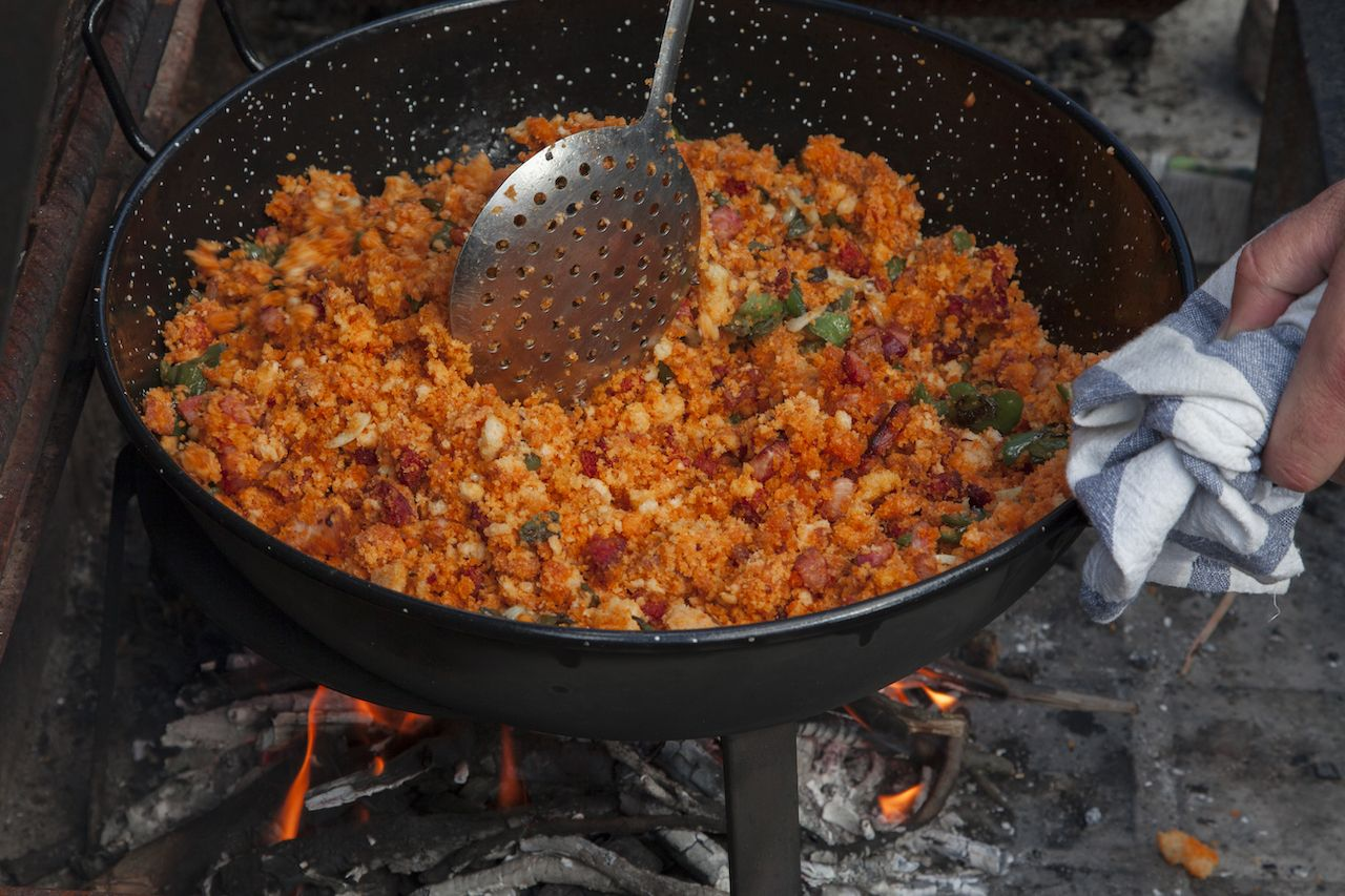 Migas, traditional Spanish food