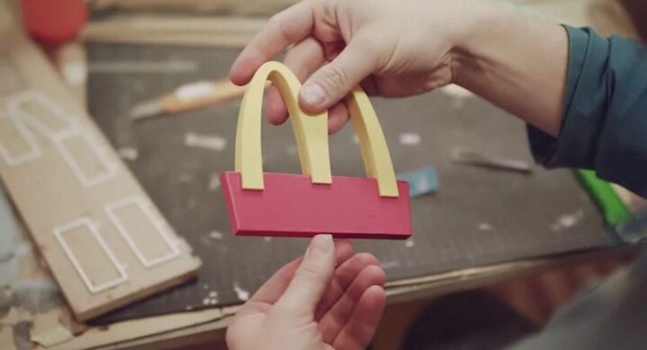 Mini McDonald's logo for the McHive