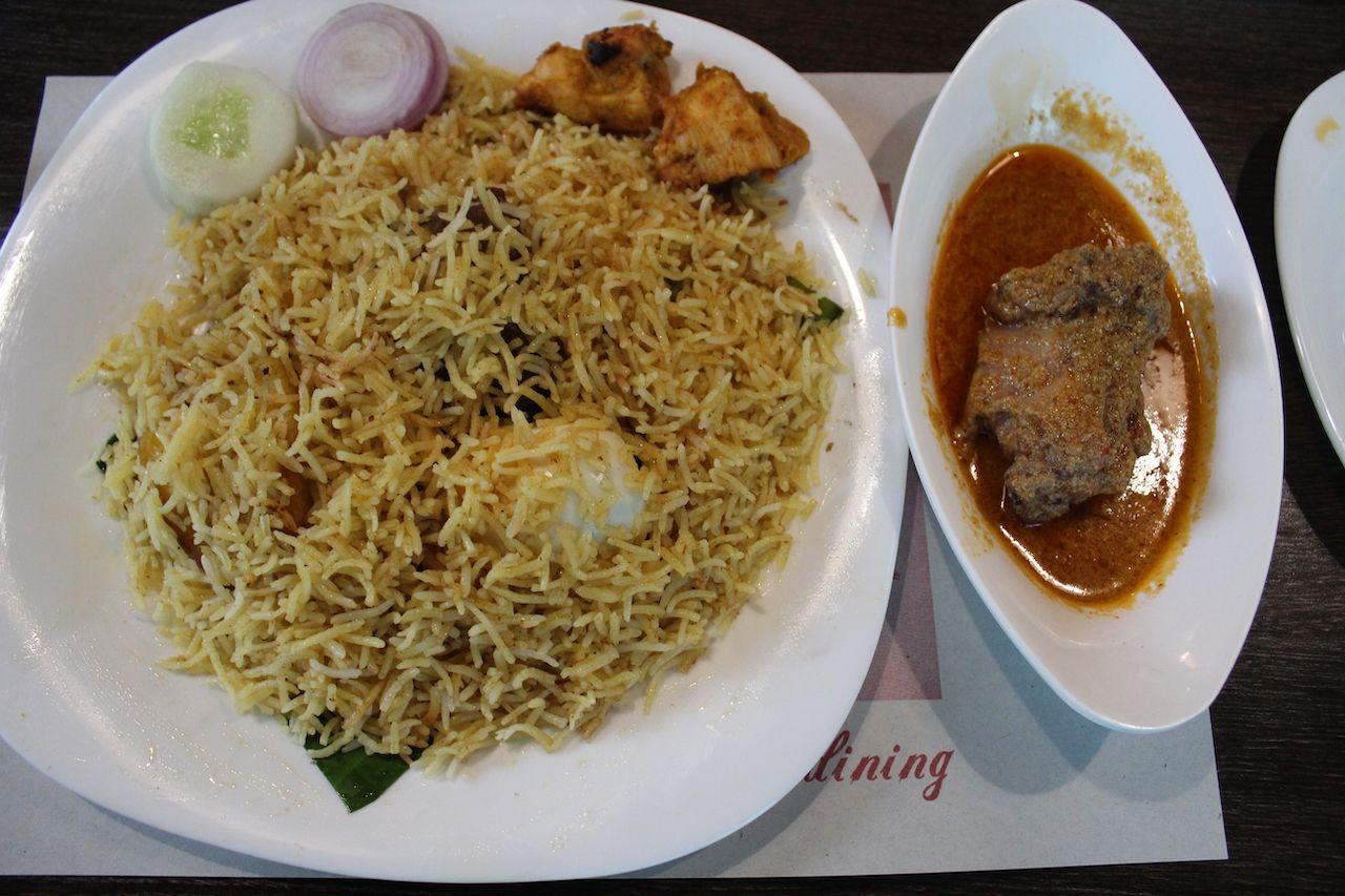 Mughal biryani dish from India