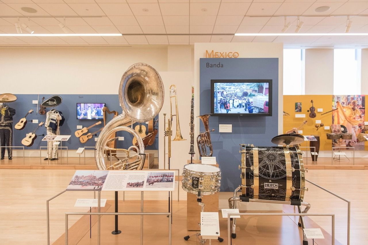 Musical instruments at the MIM in Phoenix, Arizona