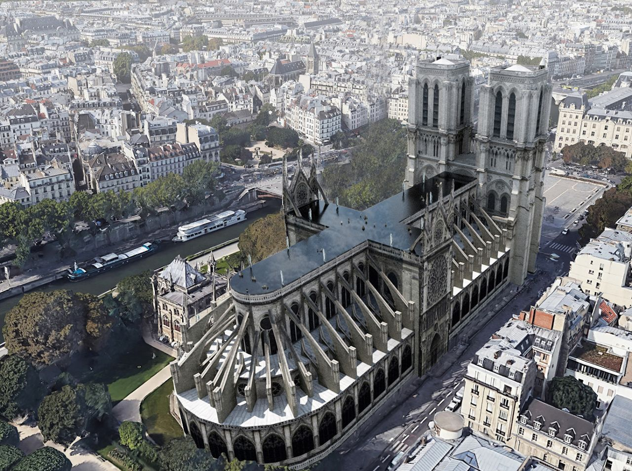 Proposed Notre Dame roof redesigns