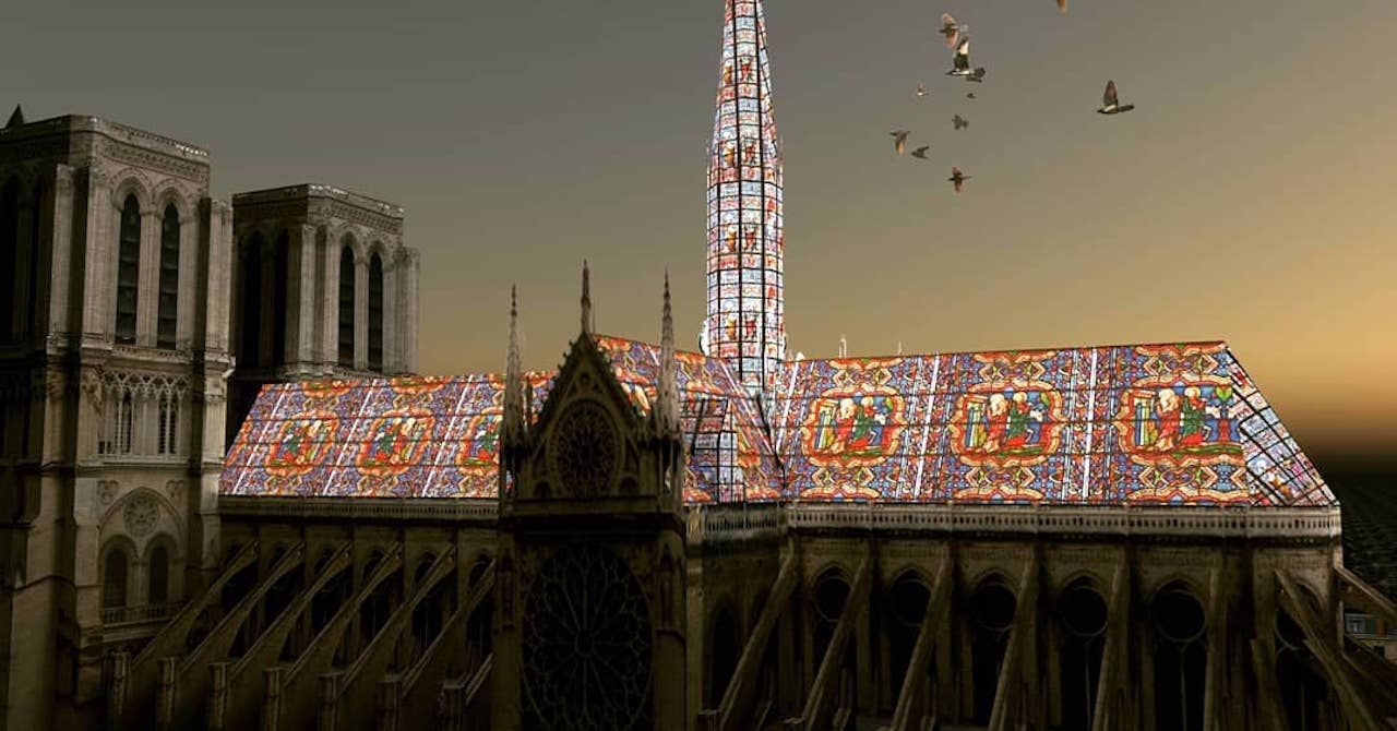 Notre Dame stained-glass roof redesign proposal