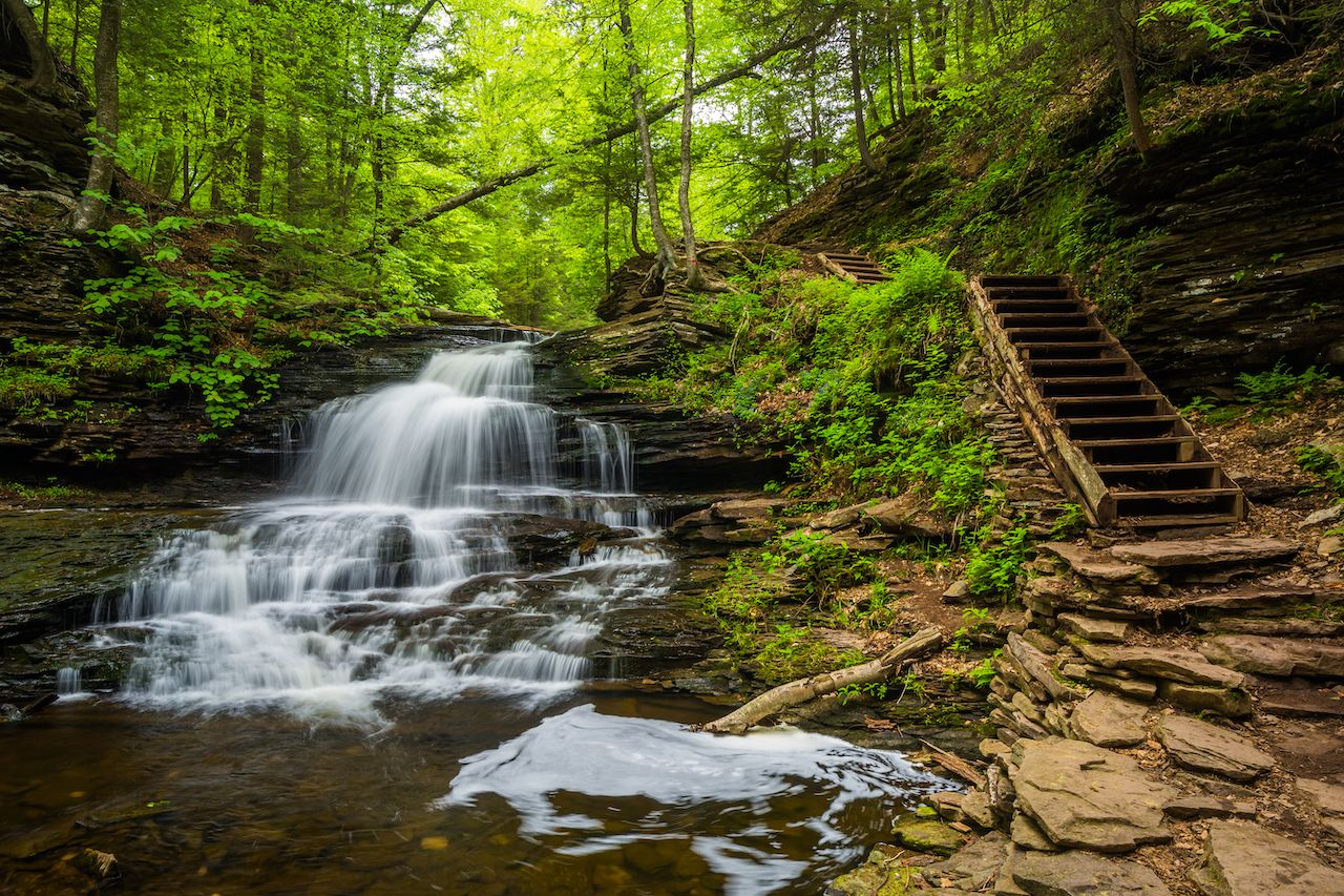 Onondaga Falls, at Ricketts Glen State Park, Pennsylvania