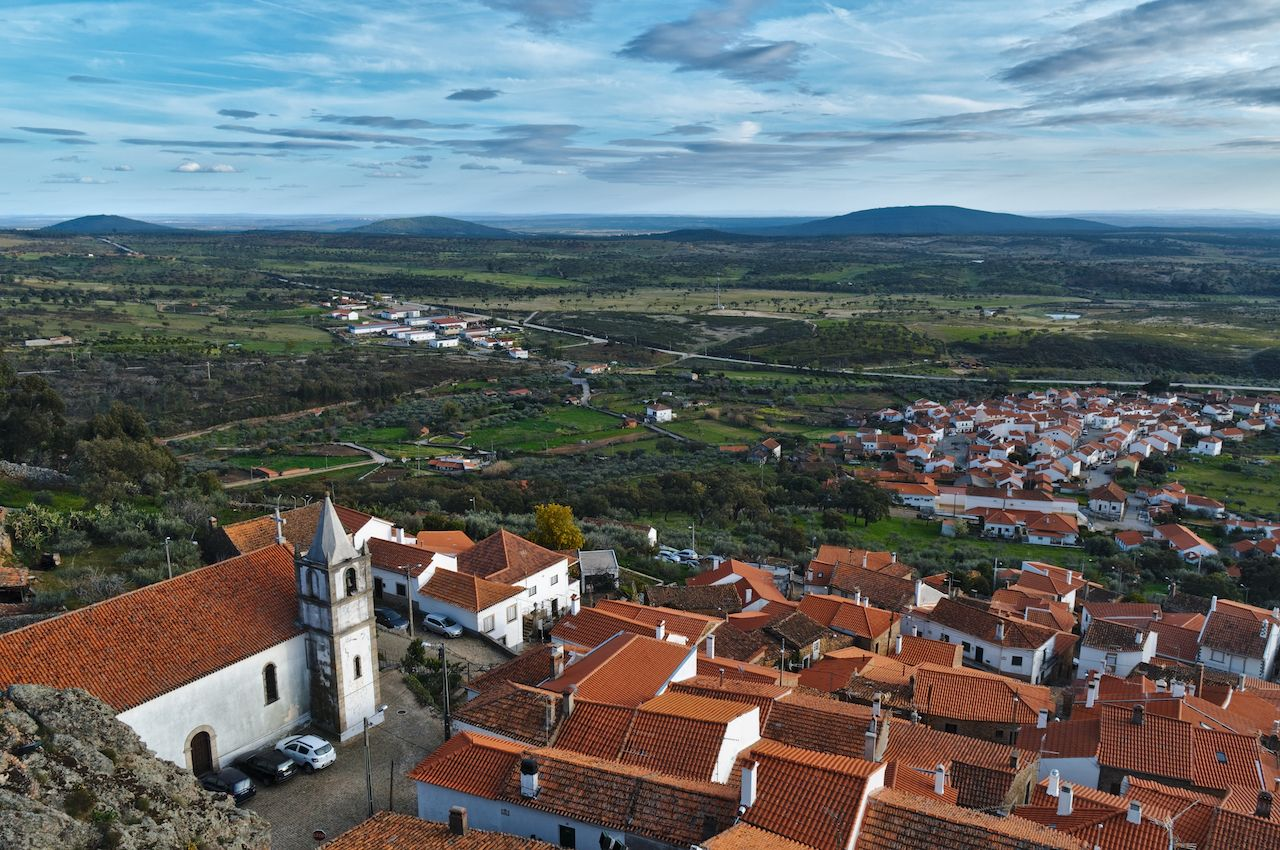 Penha Garcia village overview from the castle, Castelo Branco, Portugal