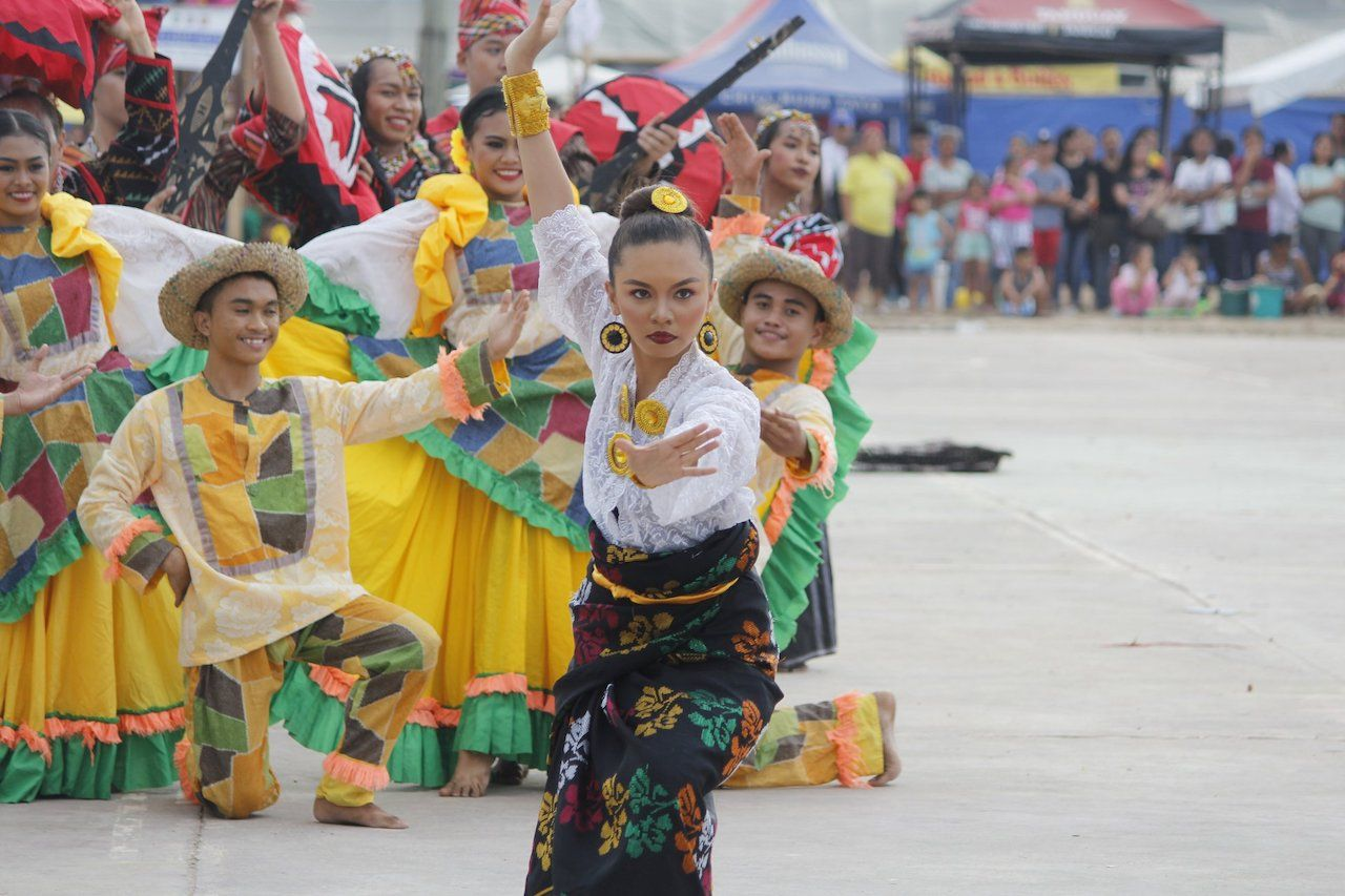 Person dancing at Guimaras Manggahan Festival