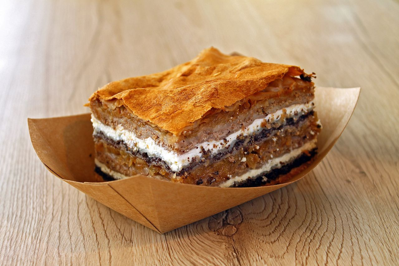 Prekmurska Gibanica Traditional Slovenia dessert
