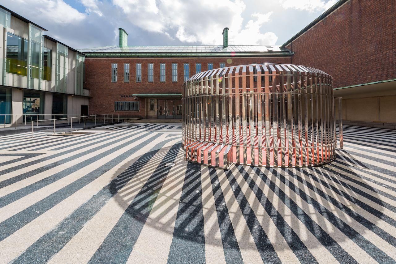 Rotterdam's Boijmans van Beuningen courtyard museum on a sunny day
