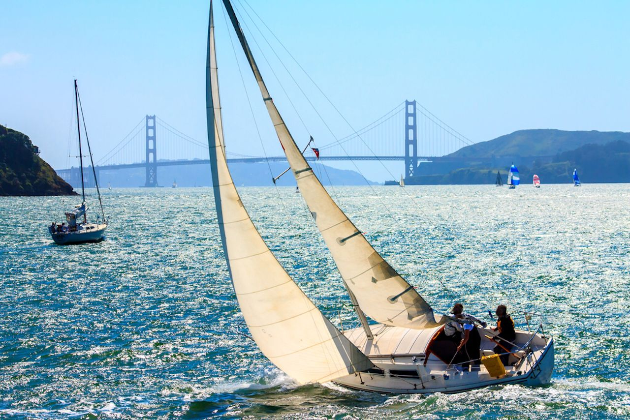 Sailboats in the San Francisco Bay