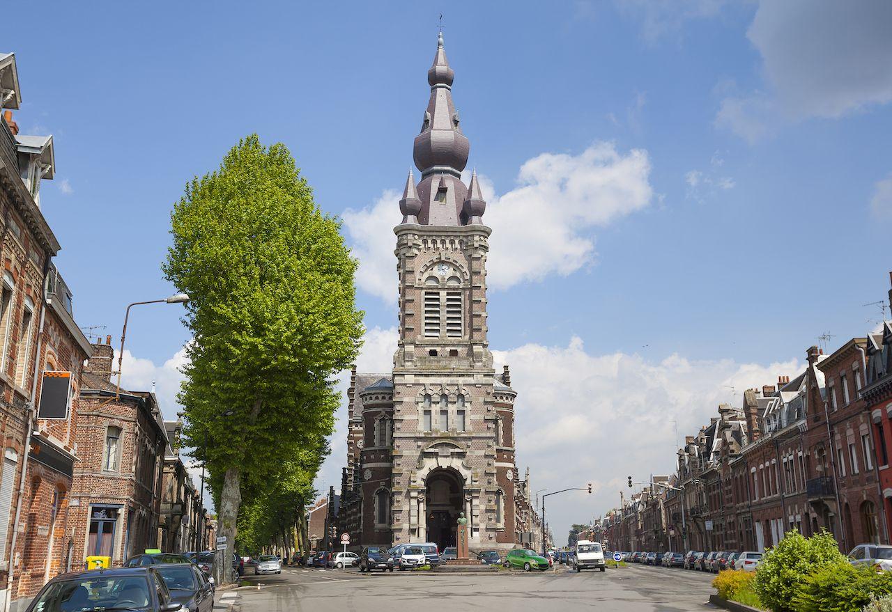Saint Michael Church in Valenciennes, France