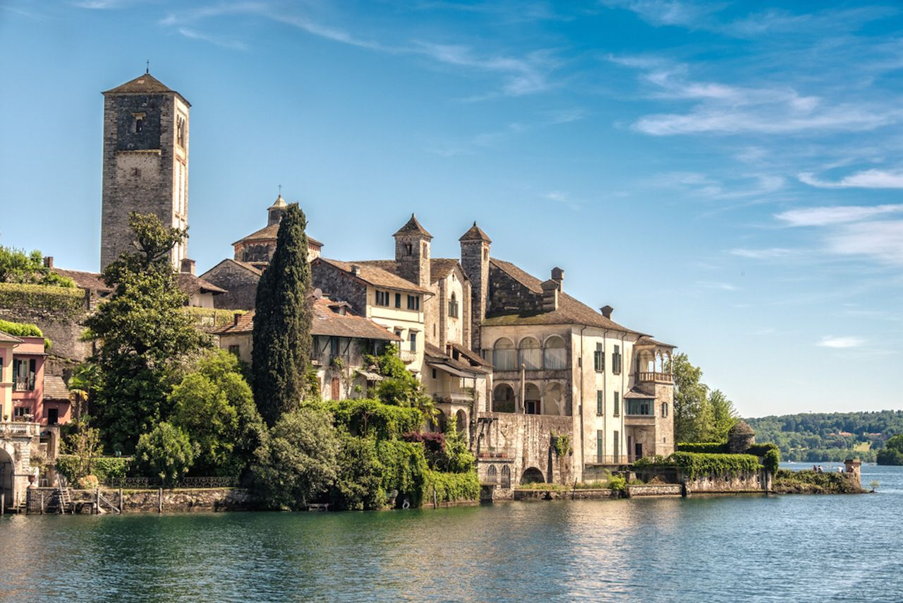 San Giulio Island in Piedmont, Italy