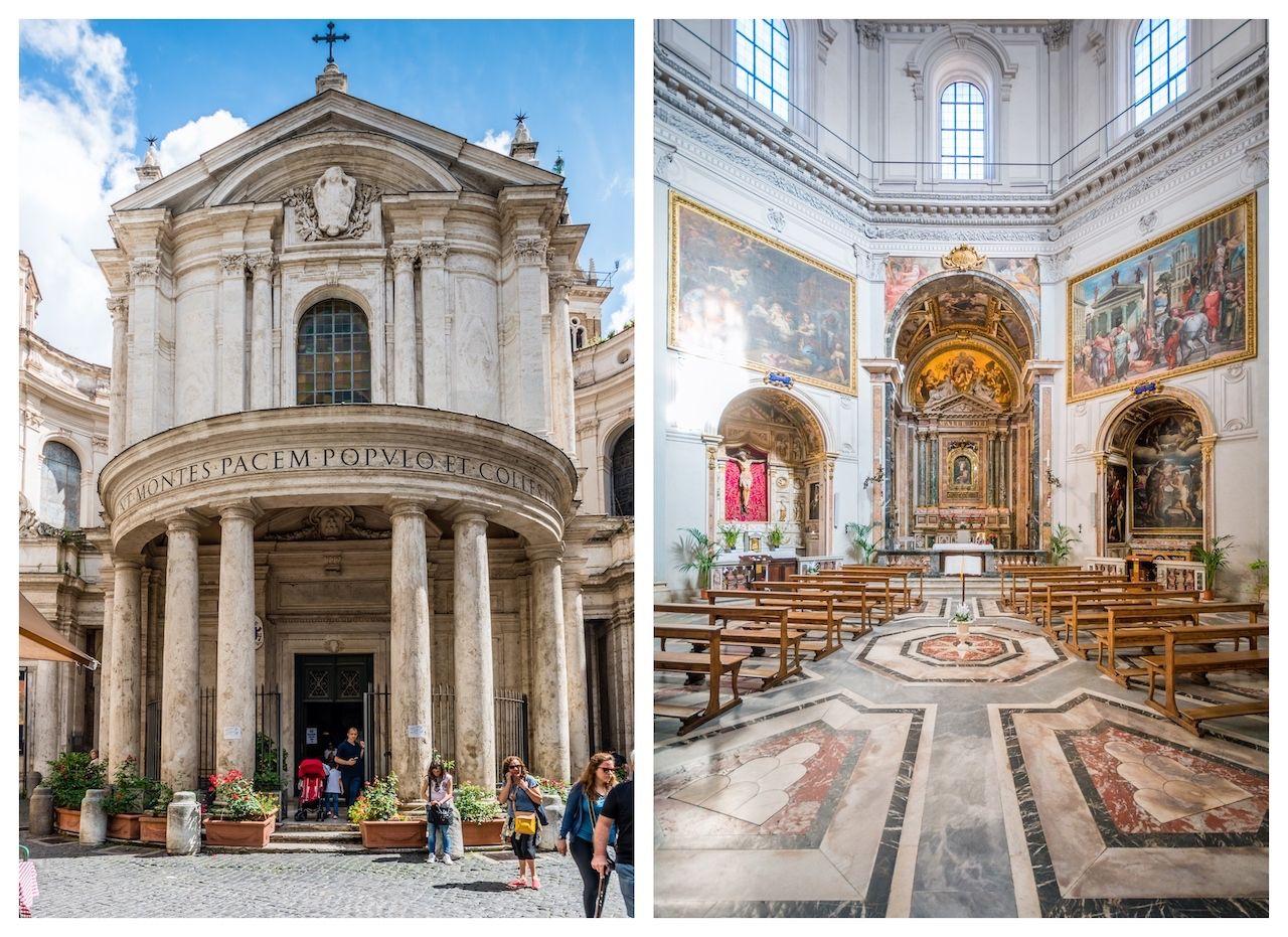 Santa Maria della Pace in Rome, Italy