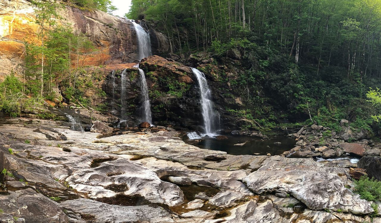 Scenic High Falls in North Carolina