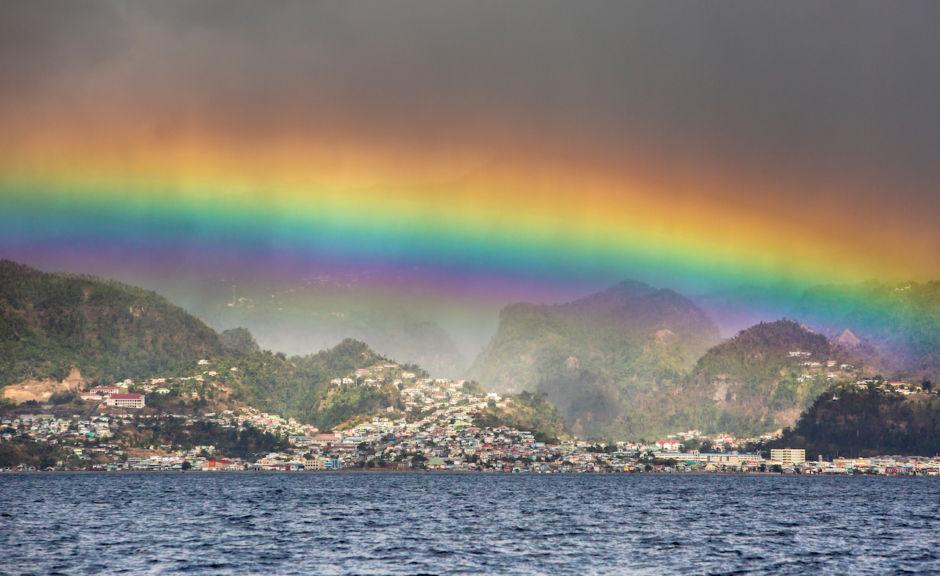 Scott Sporleder - Dominica Stills- panorama with rainbow