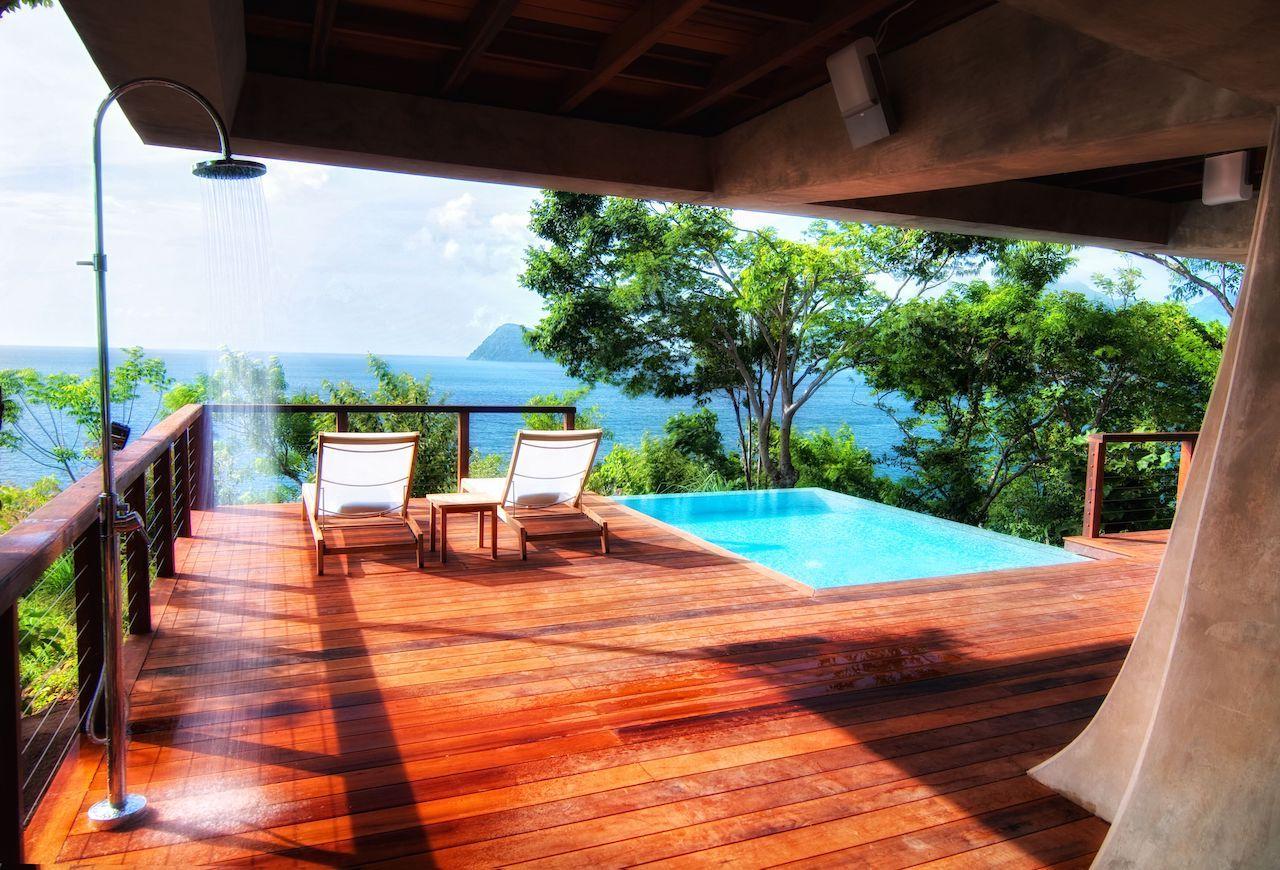 Secret Bay's Zabuco Villa Private Plunge Pool and Outdoor Shower
