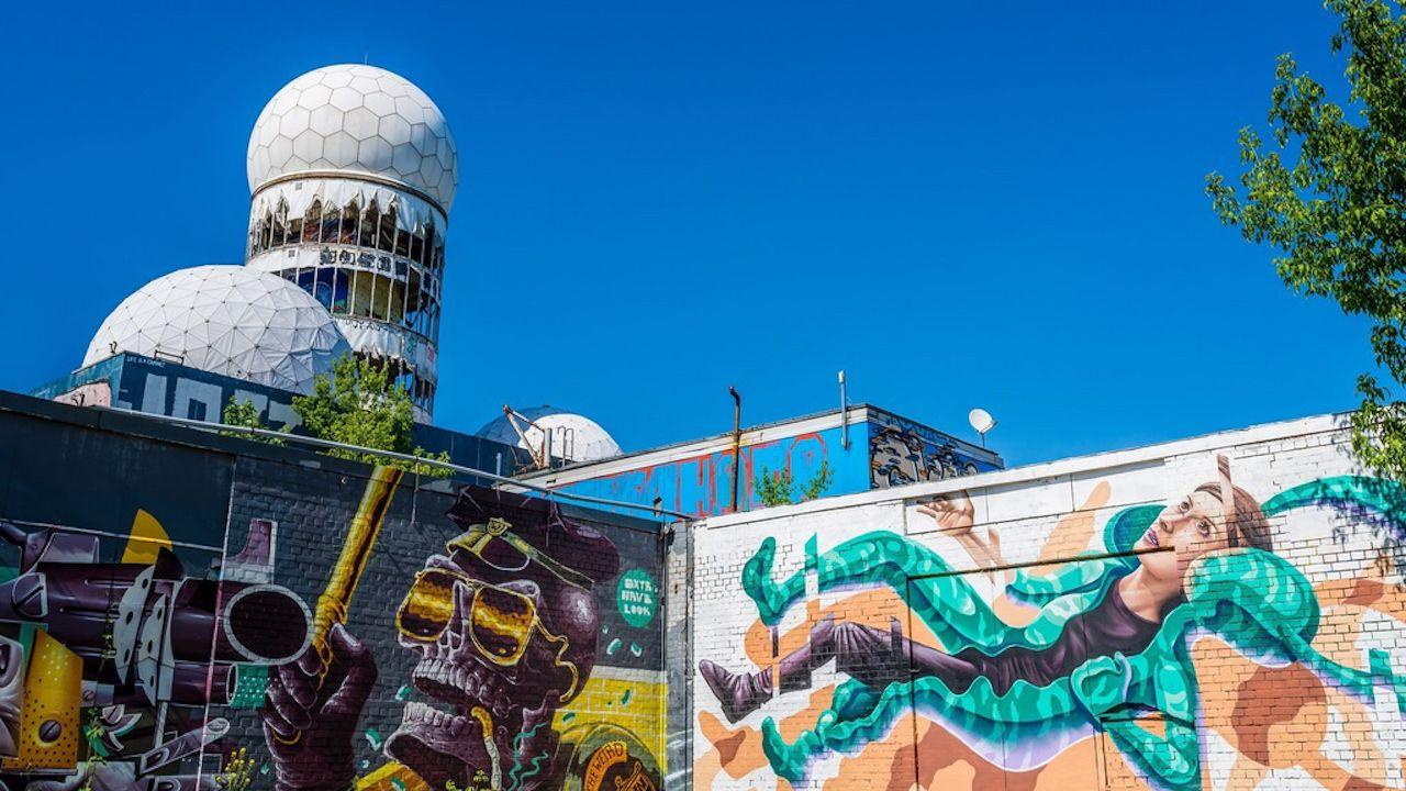 Street art in Berlin at the Teufelsberg