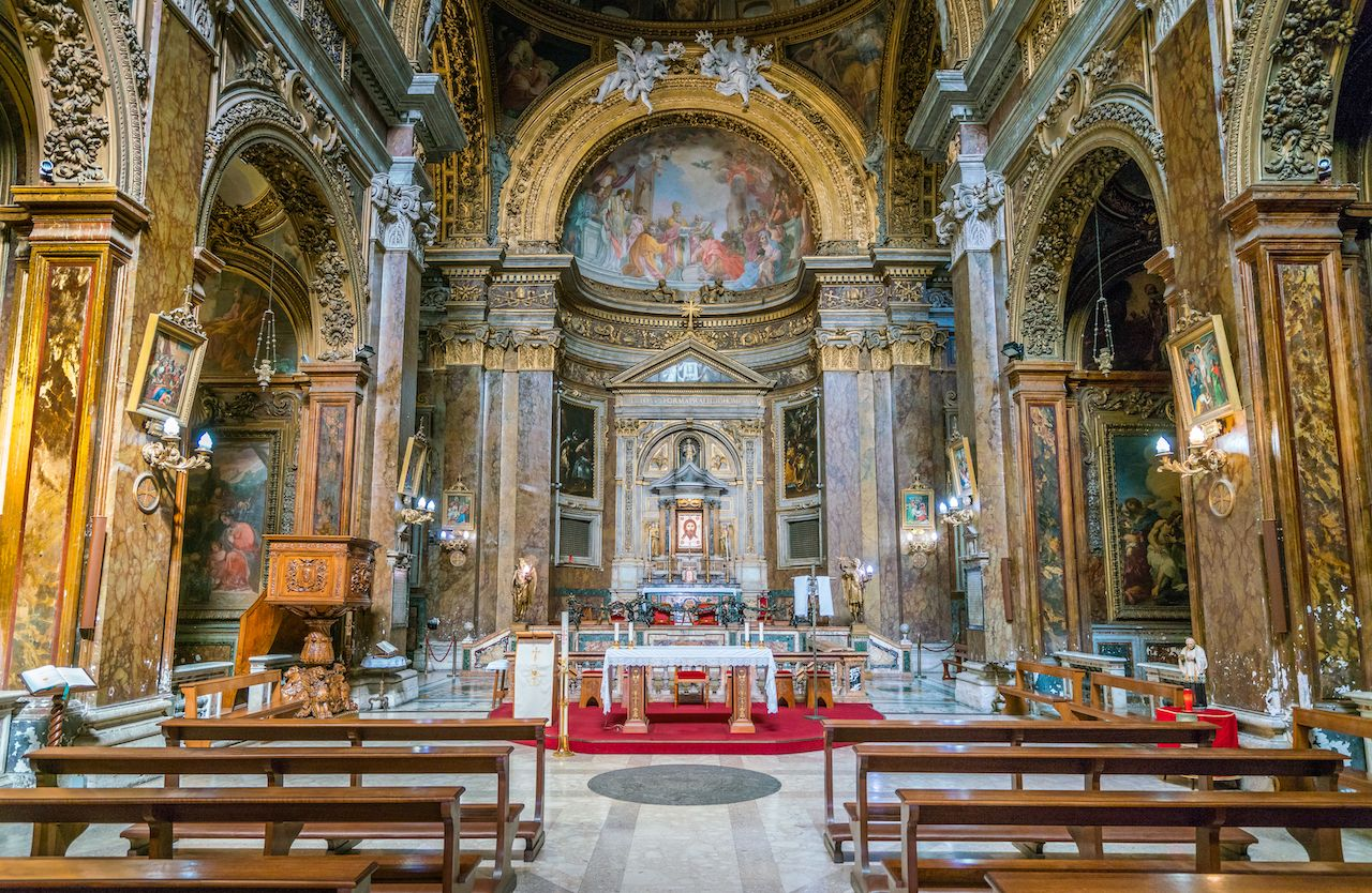 The Basilica of San Silvestro in Capite, in Rome, Italy
