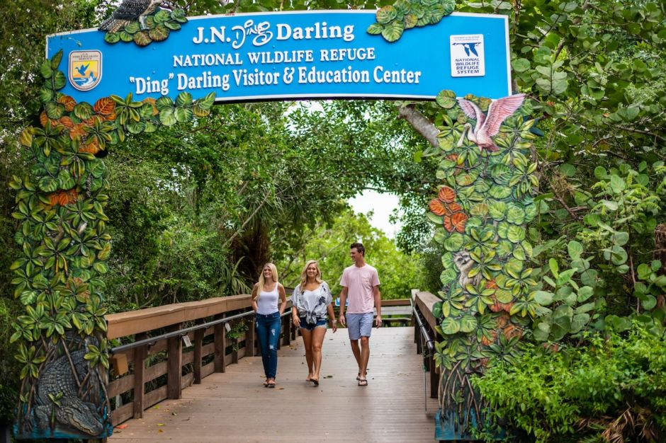The Beaches of Fort Myers and Sanibel Ding Darling wildlife refuge
