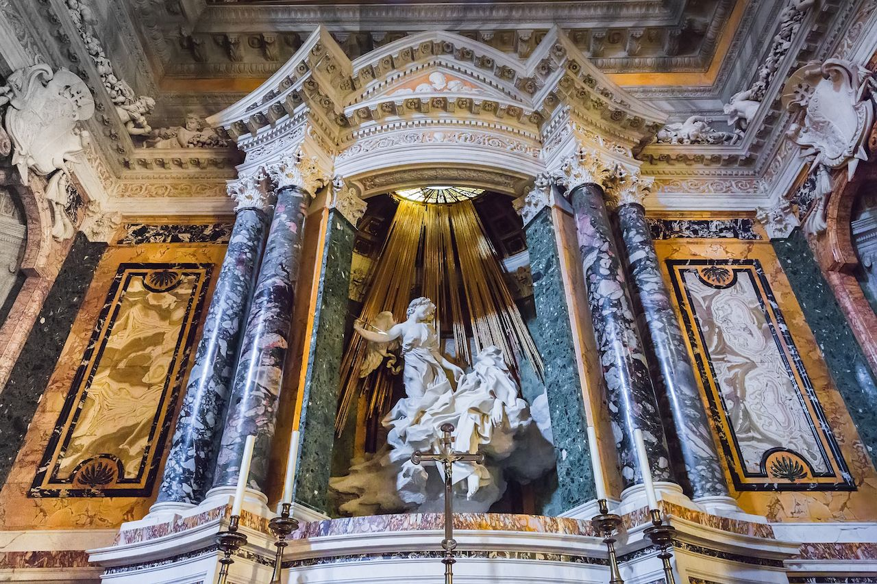 The Ecstasy of Saint Teresa by Bernini in the church of Santa Maria della Vittoria, Rome, Italy