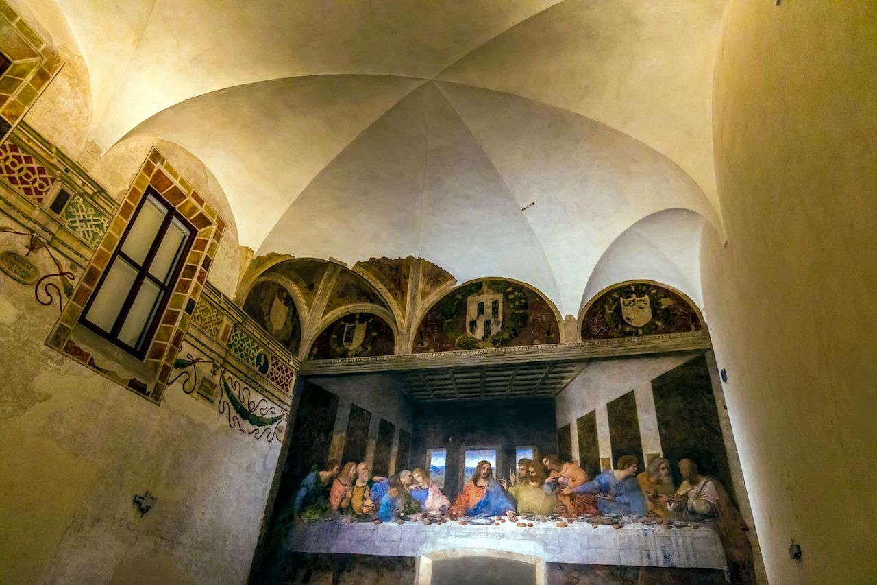 The Last Supper by Leonardo da Vinci in the refectory of the Convent of Santa Maria delle Grazie