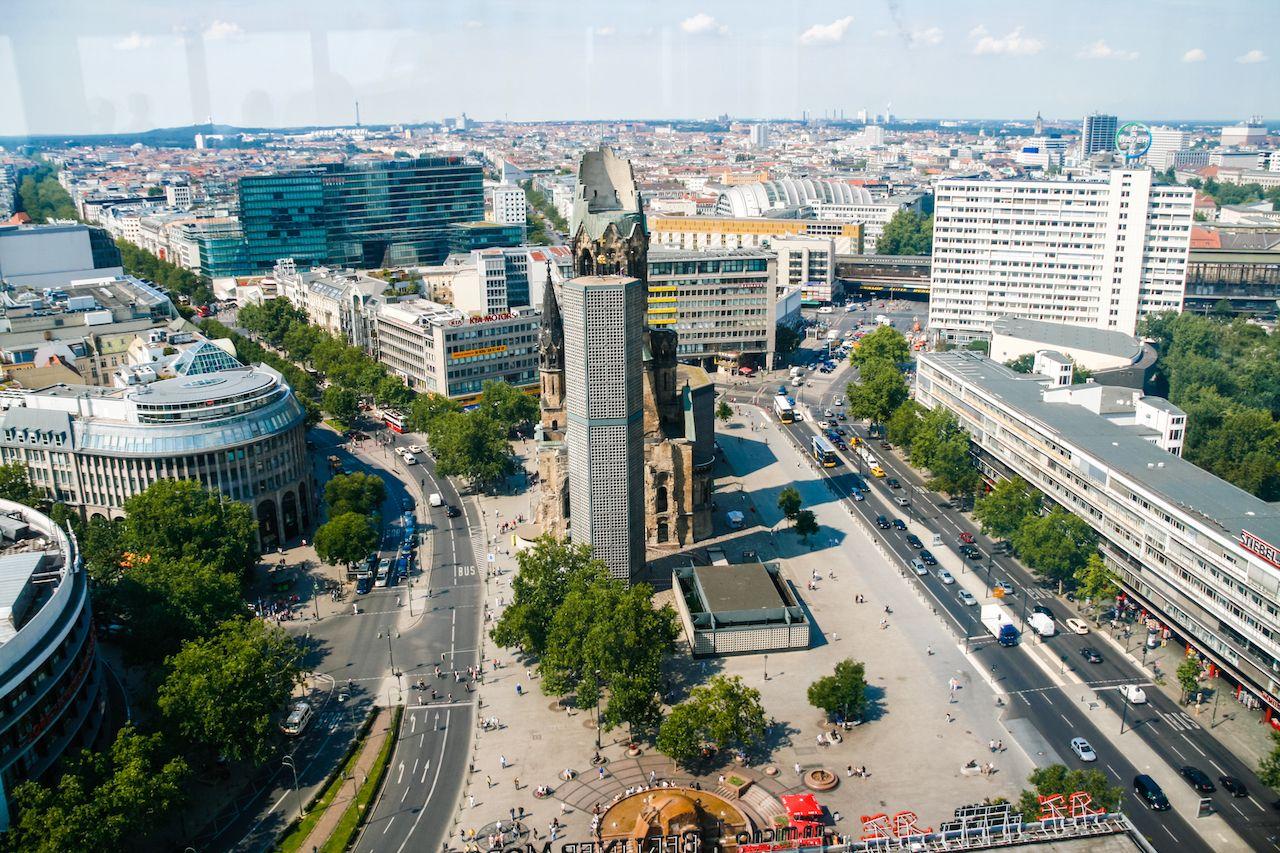 The Protestant Kaiser Wilhelm Memorial Church in Berlin