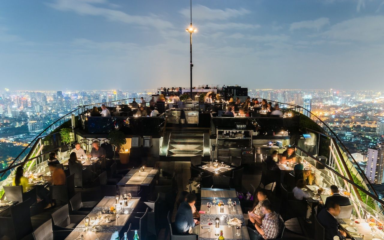 The Vertigo rooftop bar in Bangkok
