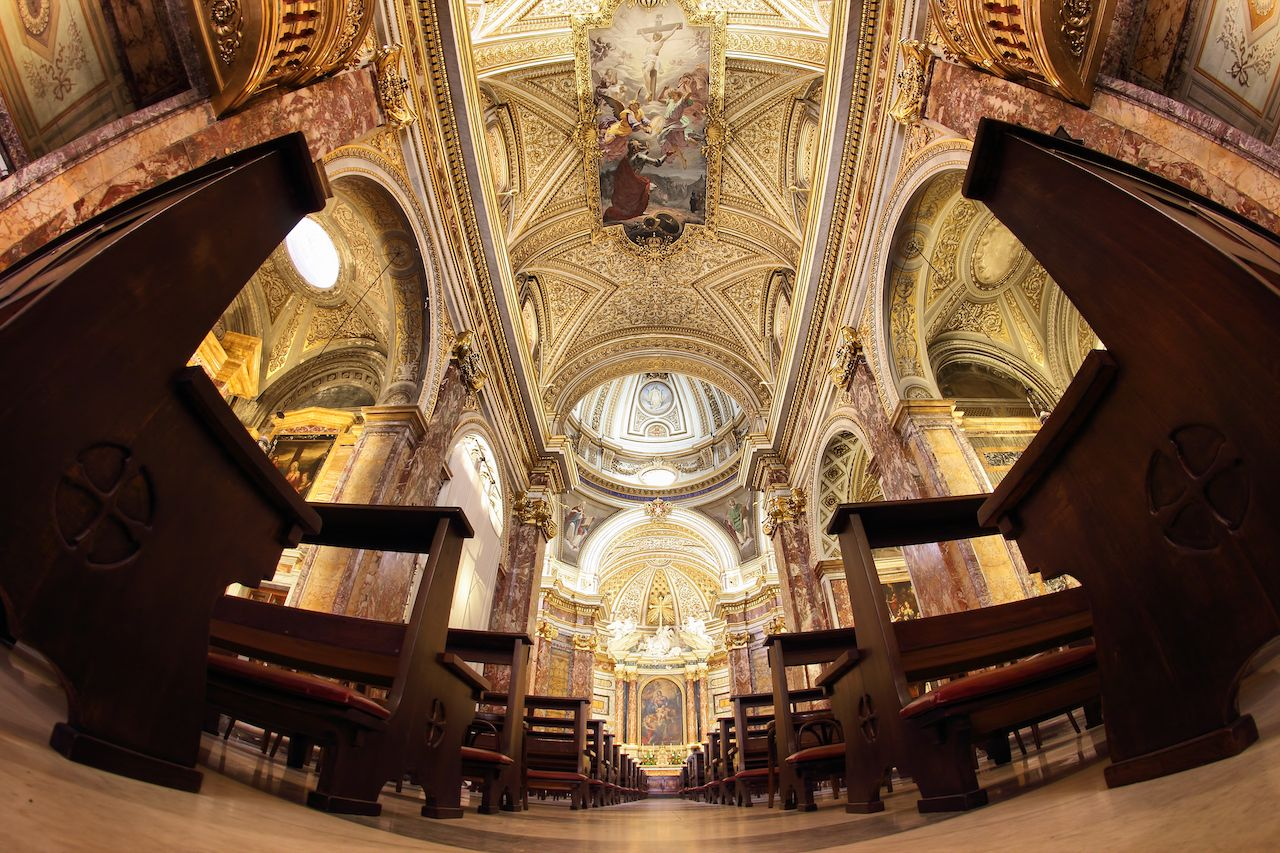 The church of Sant'Antonio dei Portoghesi in Rome, Italy