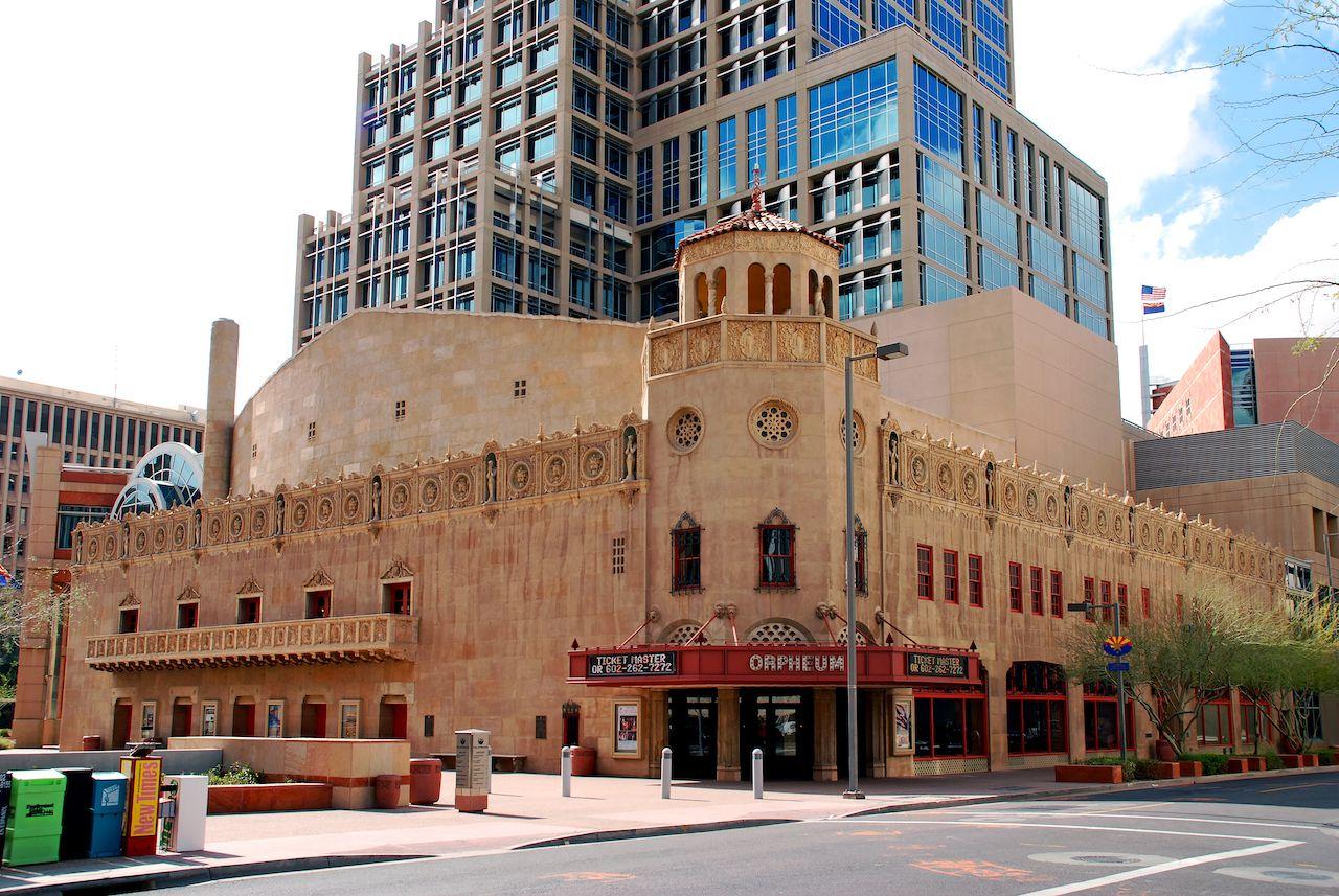 The historic Orpheum Theatre in Phoenix