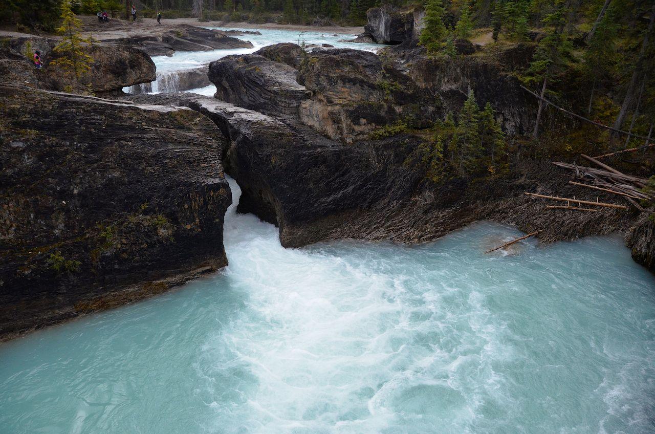 The waterfalls at bragg creek in Alberta Canada