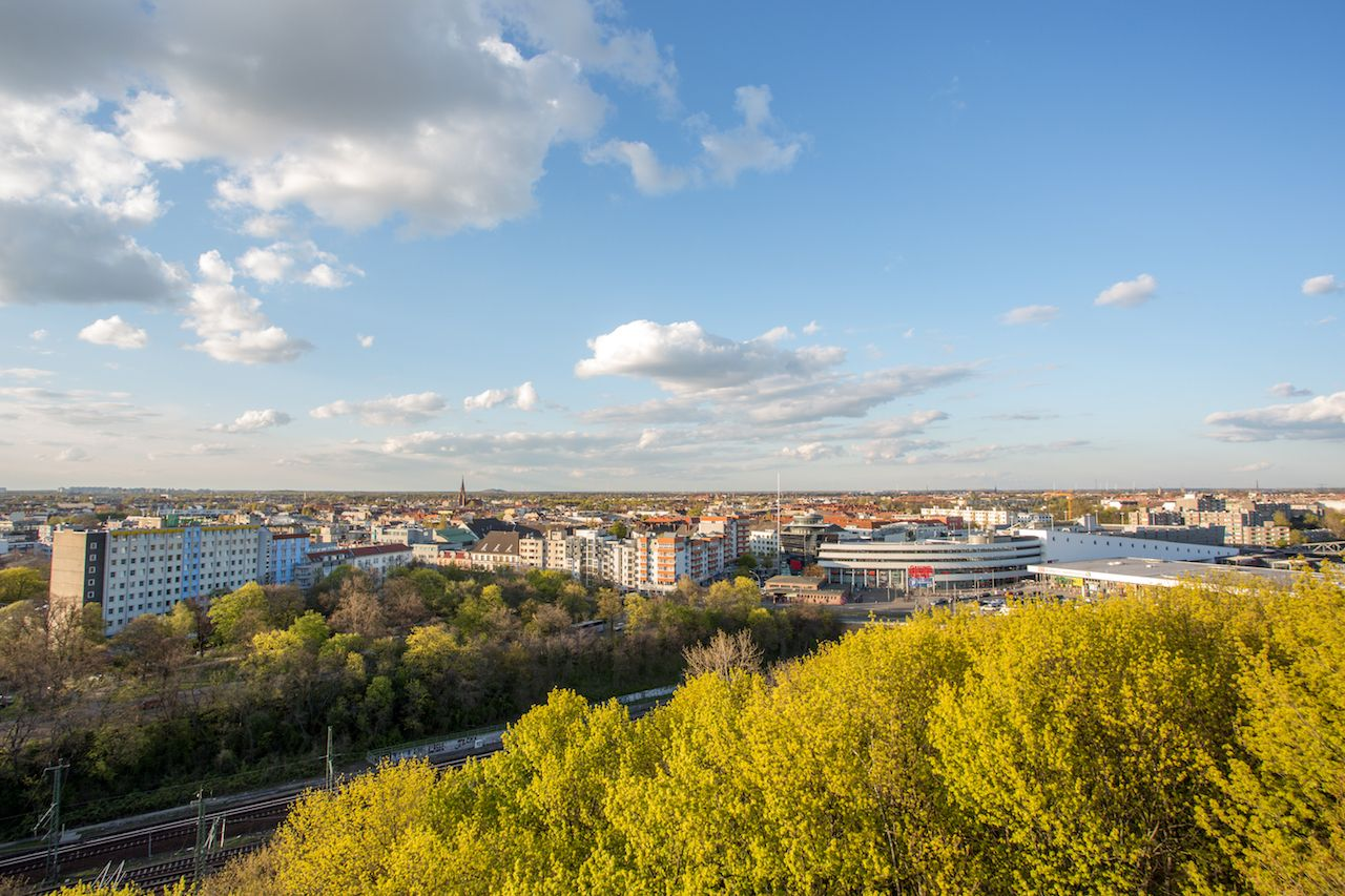 View Over Wedding, Berlin, from the Humboldthain flak tower