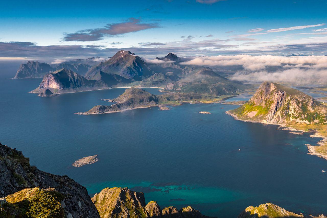 View from Stornappstinden, Lofoten, Norway