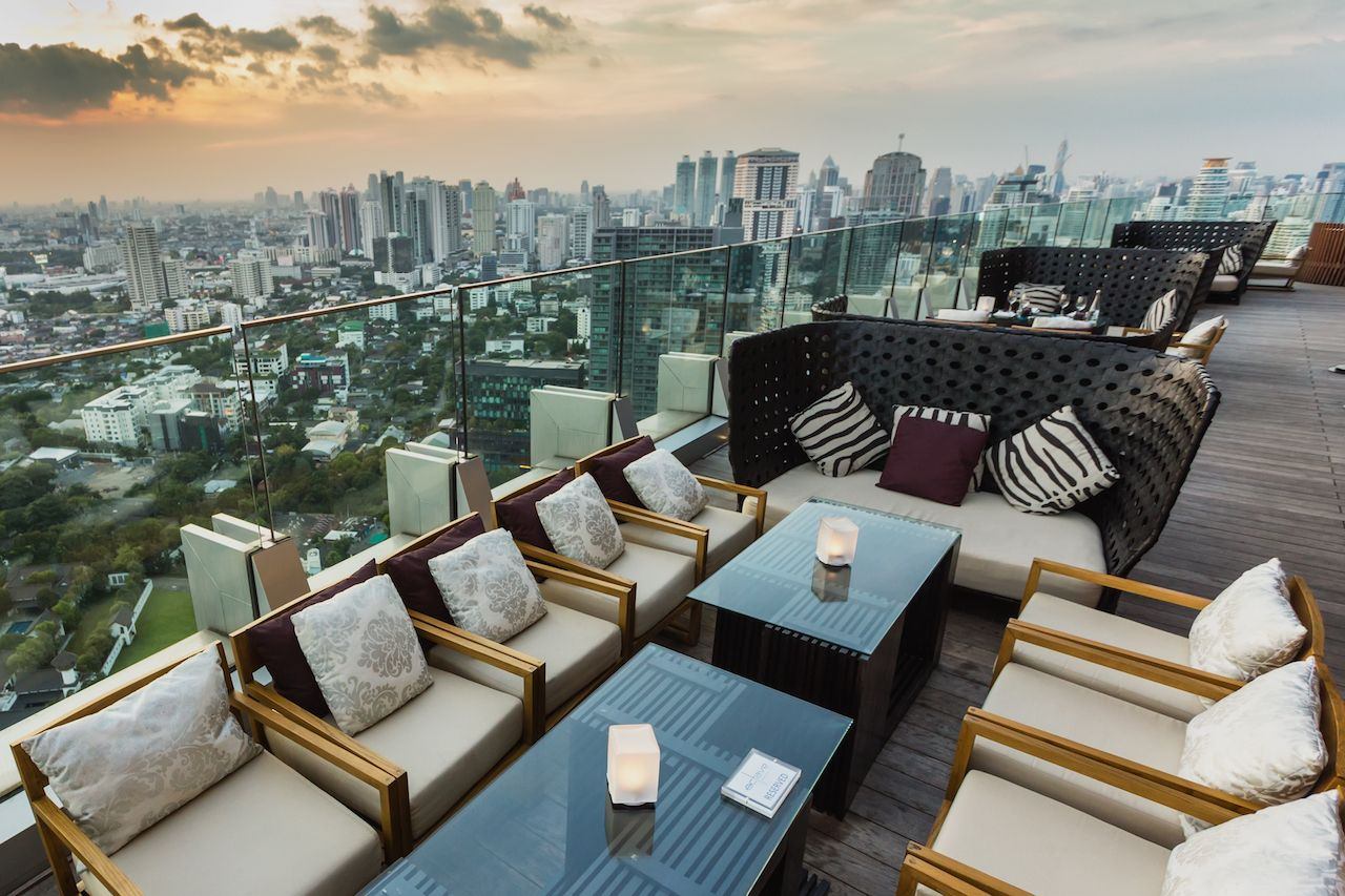 View from the top of Octave Bar in Bangkok, Thailand