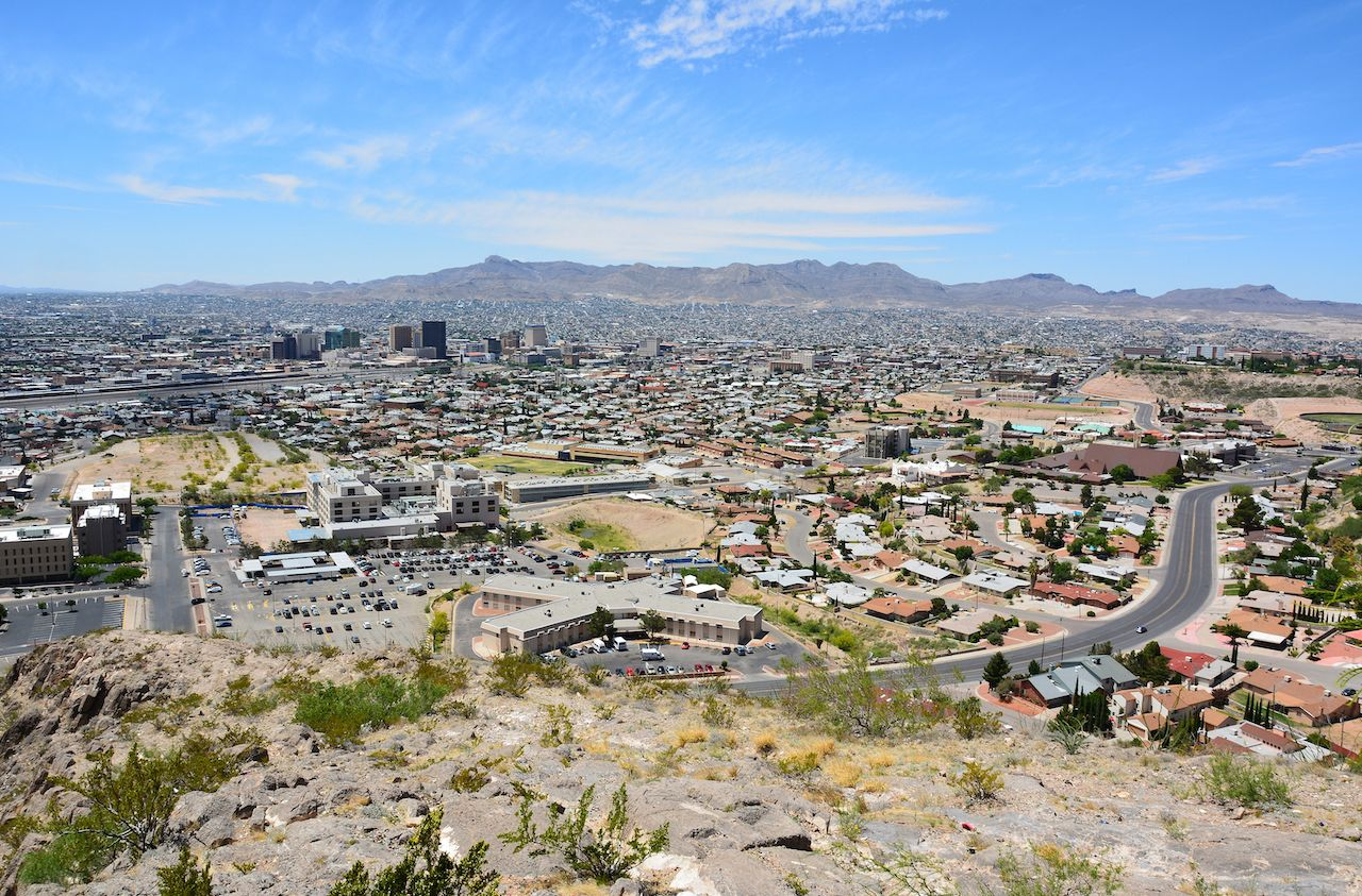 View over El Paso, TX